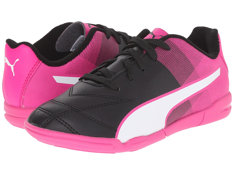 Puma Kids Adreno II IT Jr Toddler/Little Kid/Big Kid Black/White/Pink Glo Kids Shoes