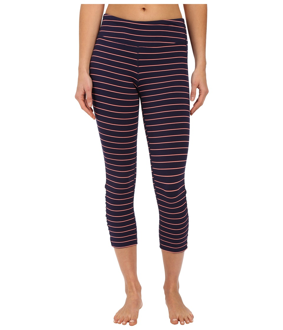 Carve Designs Baya Capri Orange Crush Stripe Womens Capri