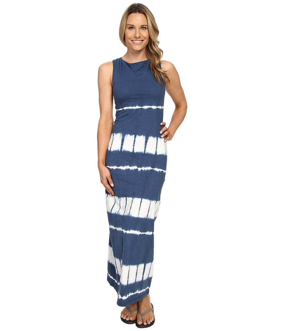 Mountain Khakis Solitude Maxi Dress (Midnight Blue Tie-Dye) Women