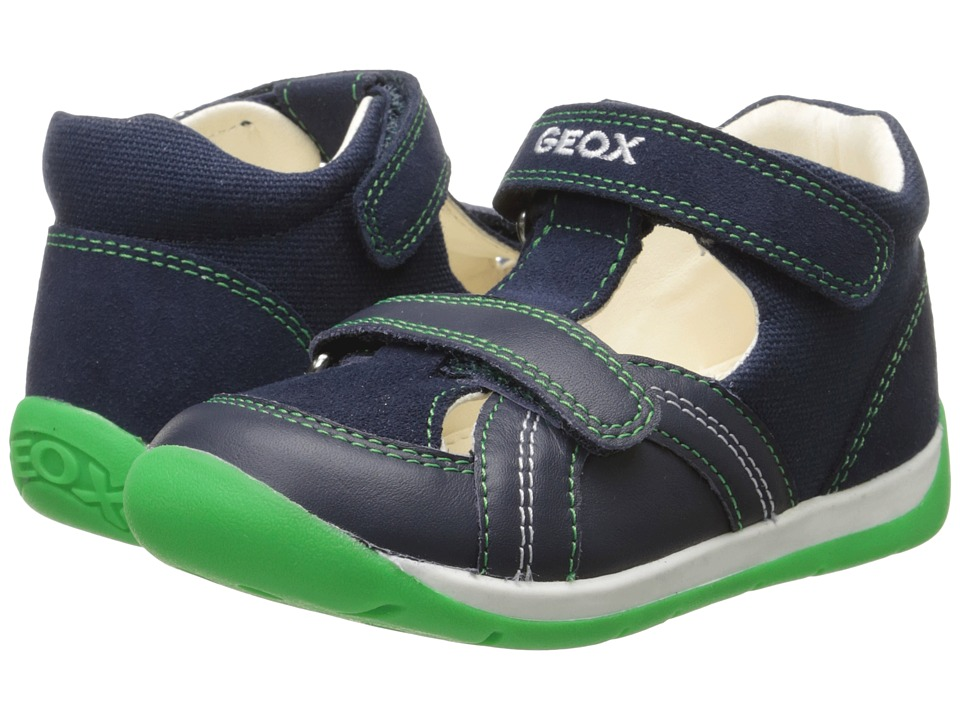 Geox Kids Baby Each Boy 6 Infant/Toddler Navy/Green Boys Shoes