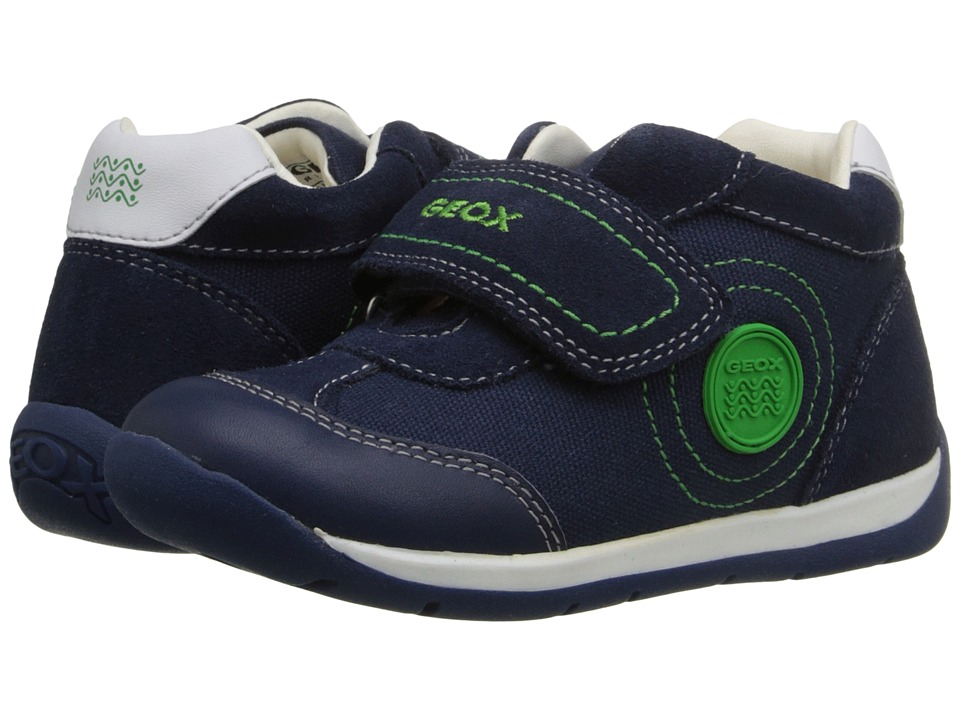 Geox Kids Baby Each Boy 7 Infant/Toddler Navy/Green Boys Shoes