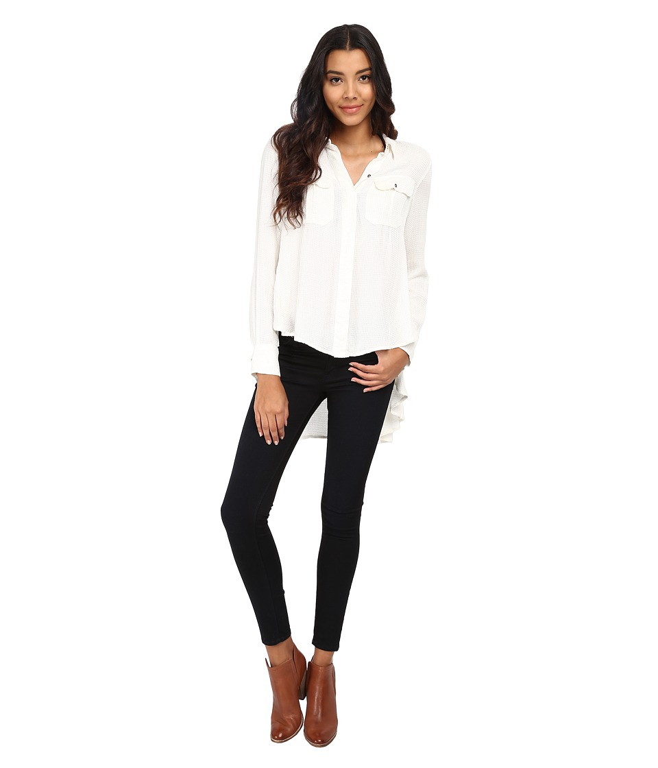 Free People One of the Guys Button Down Ivory Womens Clothing