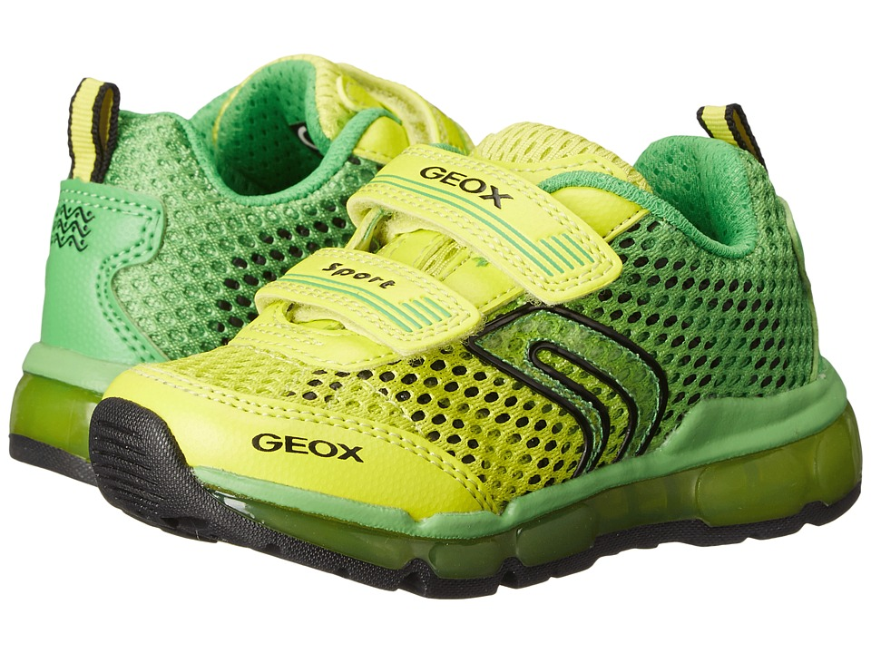 Geox Kids - Jr Android Boy 7 (Toddler\/Little Kid) (Green\/Lime) Boy's Shoes