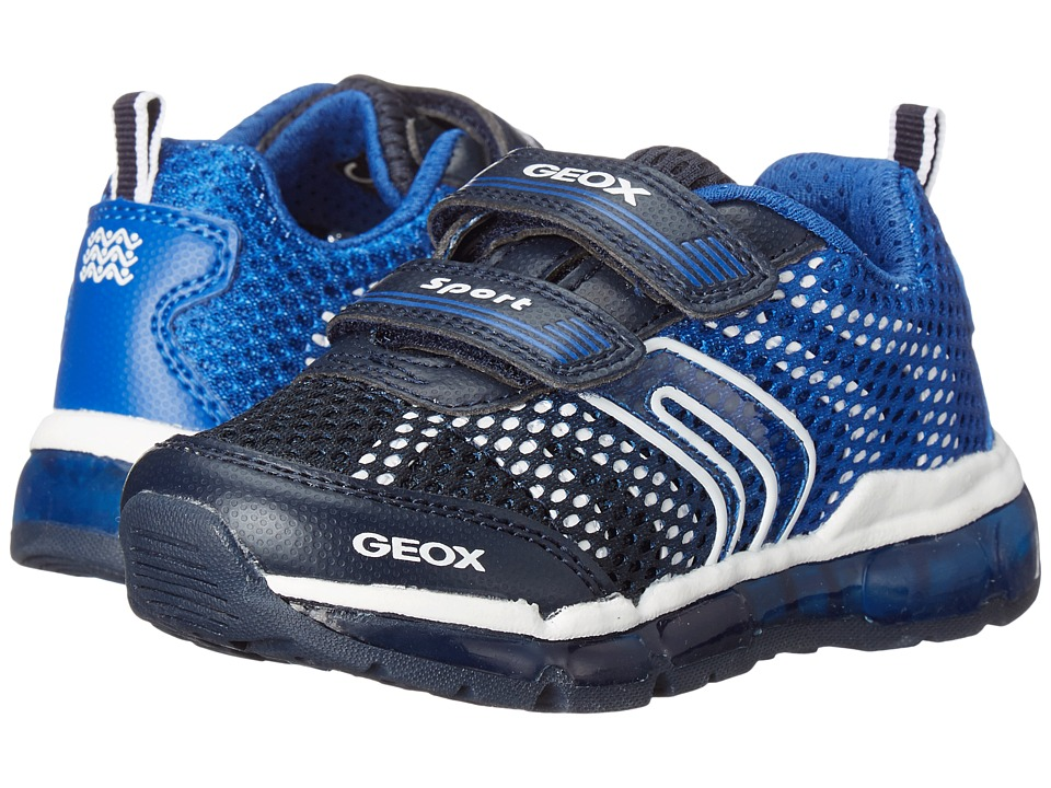 Geox Kids - Jr Android Boy 7 (Toddler\/Little Kid) (Navy\/Royal) Boy's Shoes