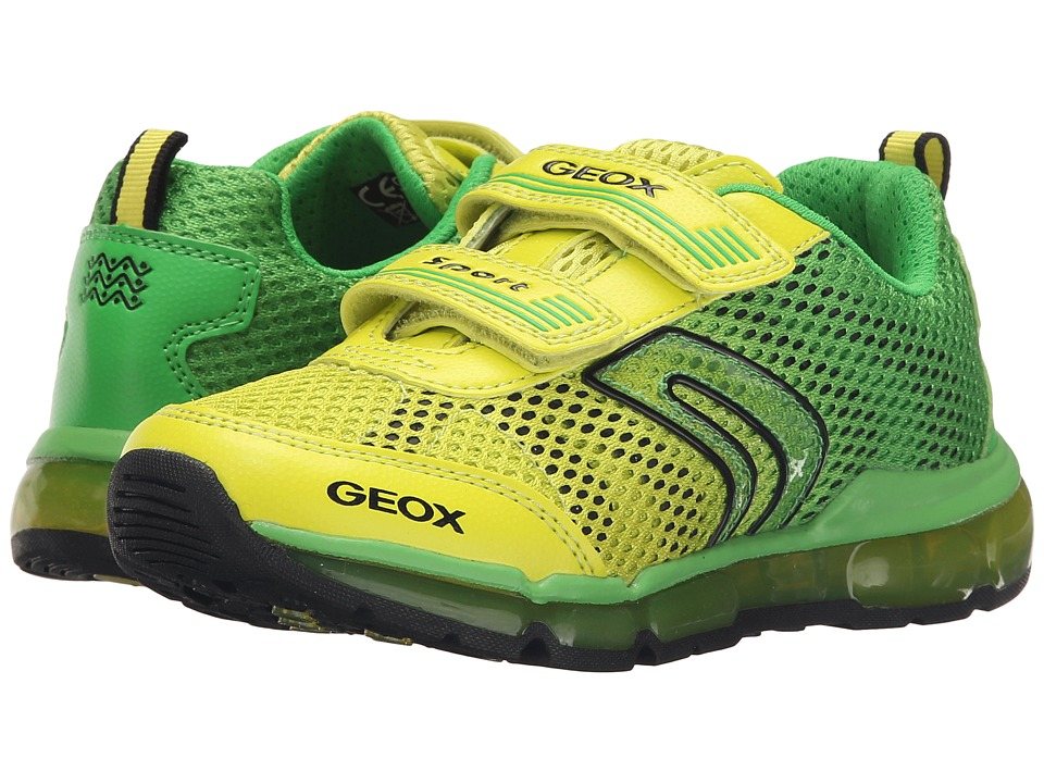 Geox Kids - Jr Android Boy 7 (Little Kid\/Big Kid) (Green\/Lime) Boy's Shoes