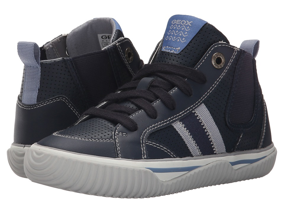 Geox Kids - Jr Australis Boy 1 (Little Kid/Big Kid) (Navy/Grey) Boys Shoes