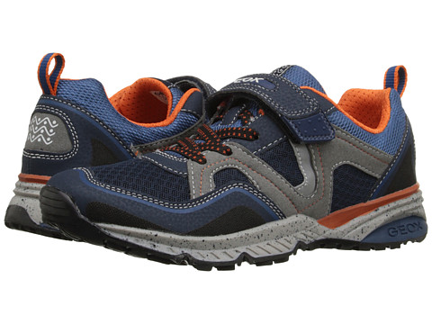 Geox Kids Jr Bernie 10 (Big Kid) - Navy/Orange