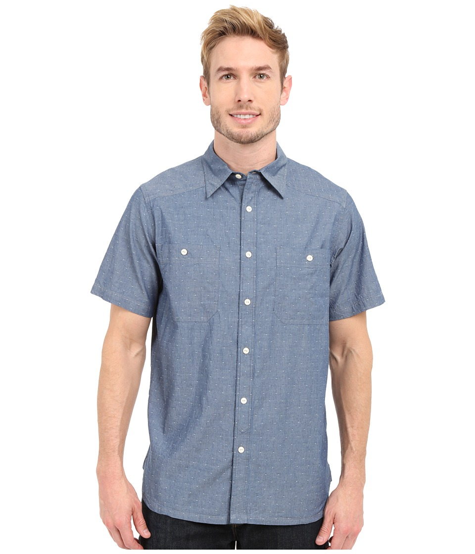 Mountain Khakis - Ace Indigo Short Sleeve Shirt (Polkadobby) Mens Clothing