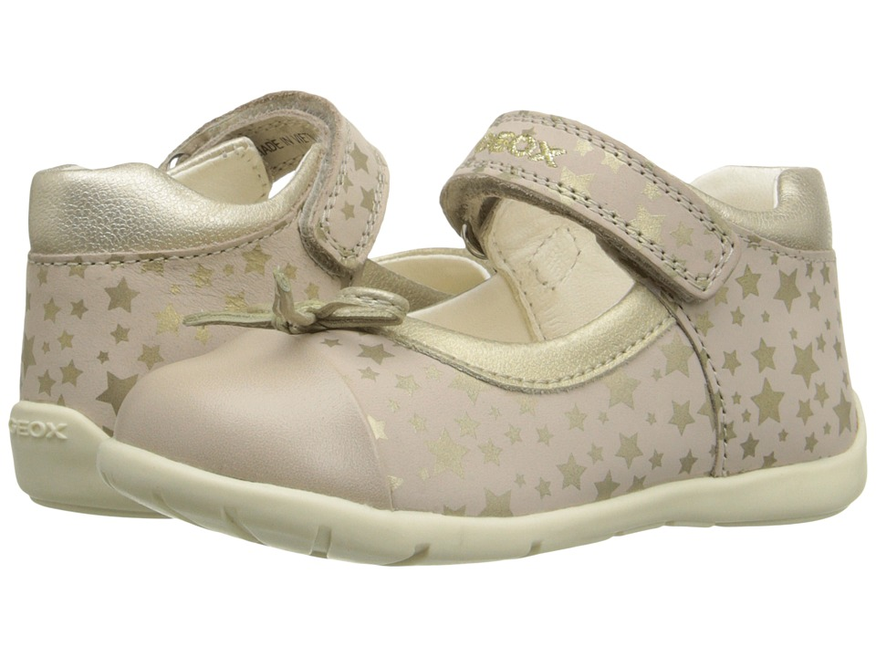 Geox Kids Baby Kaytan Girl 22 Infant/Toddler Beige/Gold Girls Shoes