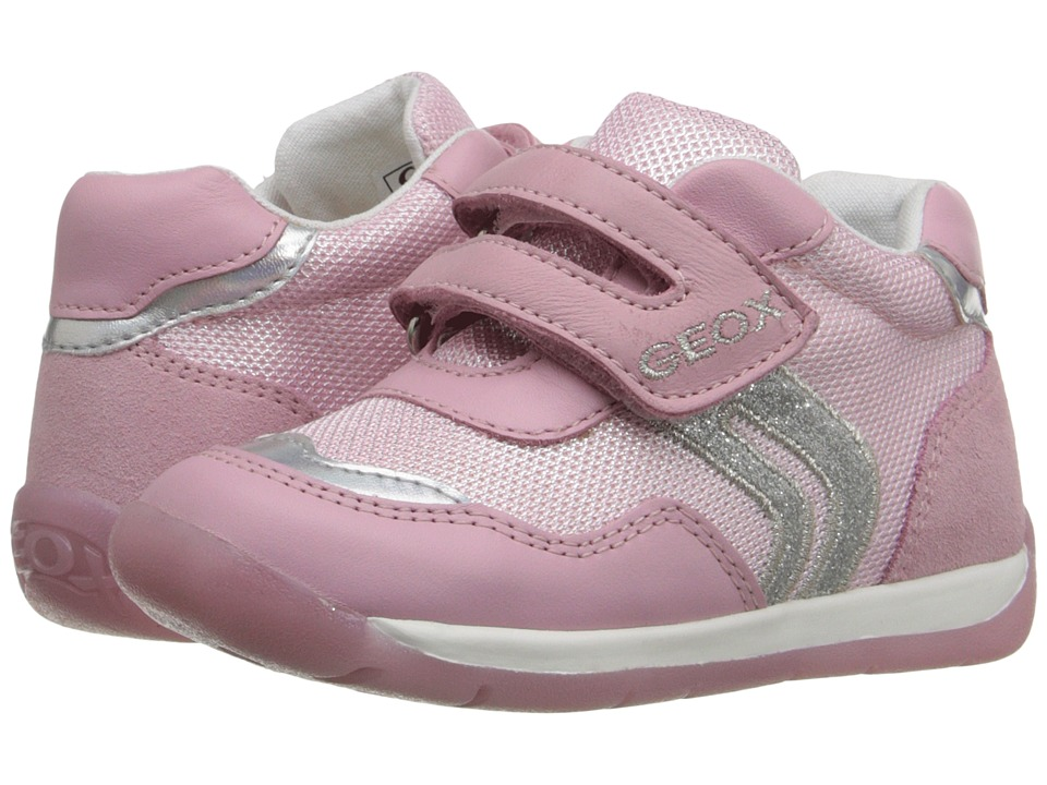 Geox Kids Baby Each Girl 5 Infant/Toddler Pink/Silver Girls Shoes