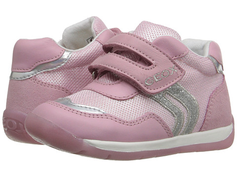Geox Kids Baby Each Girl 5 Infant Toddler Pink Silver