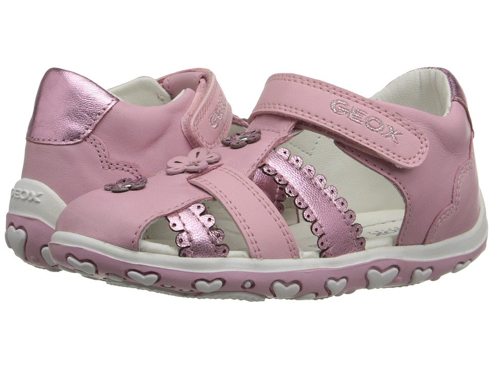 Geox Kids Baby Bubble 58 Infant/Toddler Pink Girls Shoes