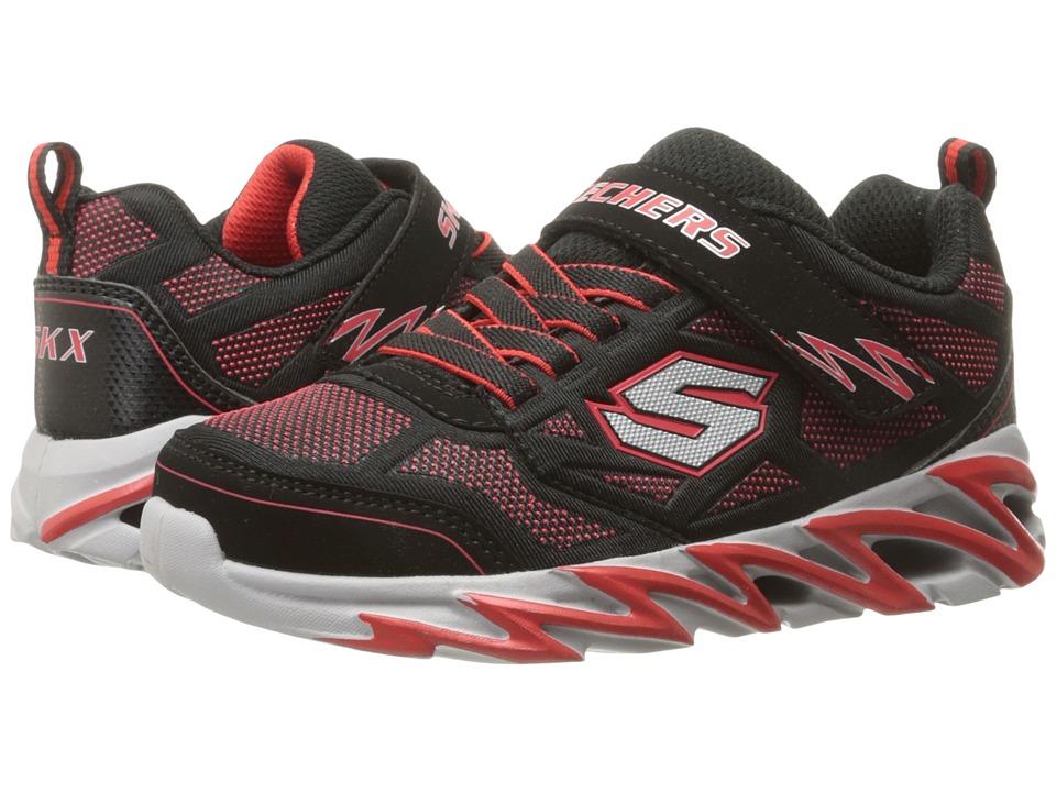 SKECHERS KIDS Fast Volt 95956L Little Kid Black/Red Boys Shoes