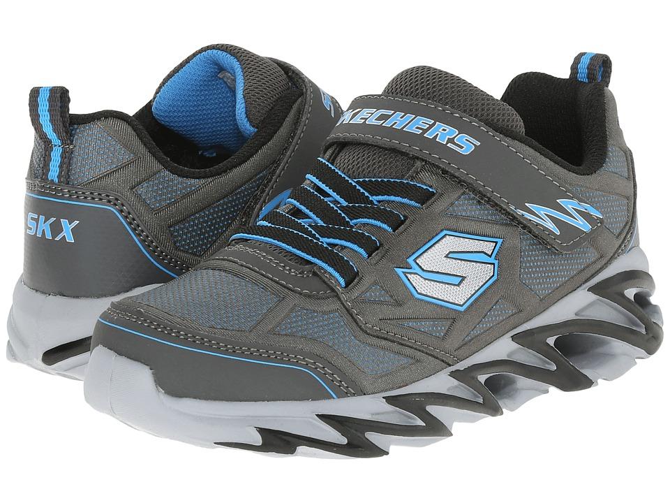 SKECHERS KIDS Fast Volt 95956L Little Kid Charcoal/Blue Boys Shoes