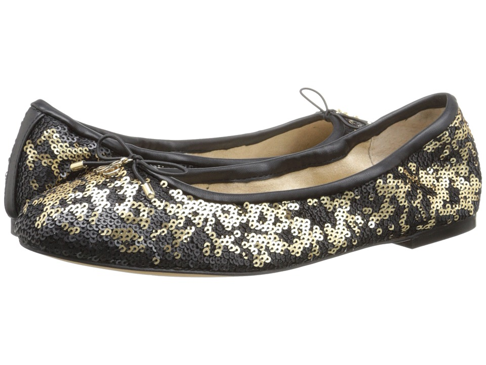 Sam Edelman Felicia Pure Gold Twiggy Sequins Womens Flat Shoes