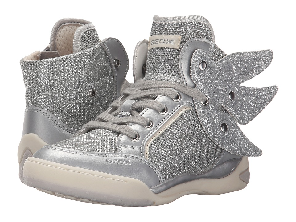 Geox Kids - Jr Ayko Girl 3 (Little Kid/Big Kid) (Silver) Girl