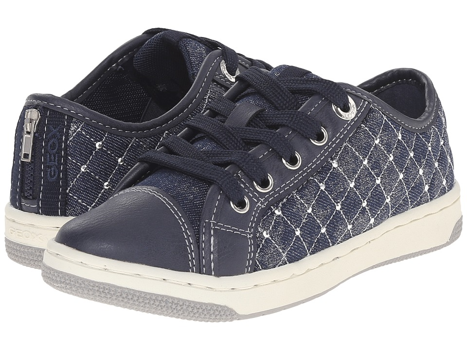 Geox Kids - Jr Creamy 35 (Little Kid/Big Kid) (Navy) Girl