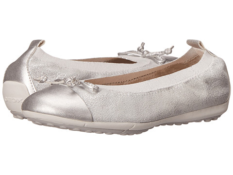 Geox Kids Jr Piuma 48 (Little Kid/Big Kid) - Silver