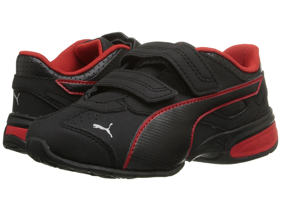Puma Kids Tazon 6 SL (Toddler/Little Kid/Big Kid) (Black/High Risk Red/Puma Silver) Boys Shoes