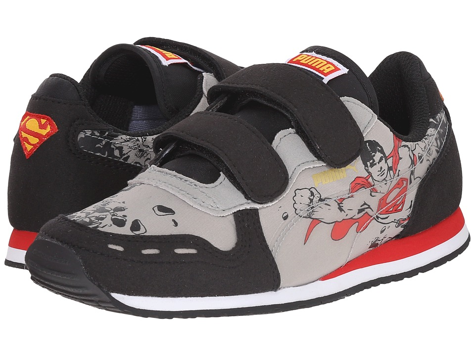 Puma Kids - Cabana Racer Superman V (Toddler/Little Kid/Big Kid) (Black/Limestone Gray) Kids Shoes