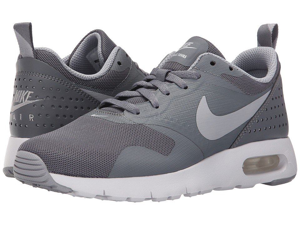 Nike Kids Air Max Tavas GS (Big Kid) (Cool Grey/White/Wolf Grey) Boys Shoes