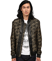 Just Cavalli - Jacquard Bomber w/ Leather Trim