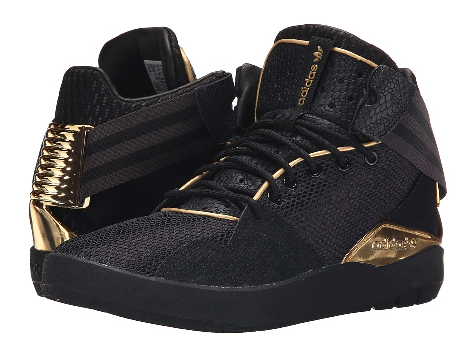 adidas Originals Crestwood Mid Premium Black/Metallic Gold/Shadow Black Mens Shoes
