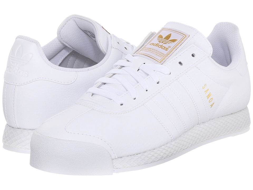 adidas Originals - Samoa - Premium (White/White/Gold Metallic) Men