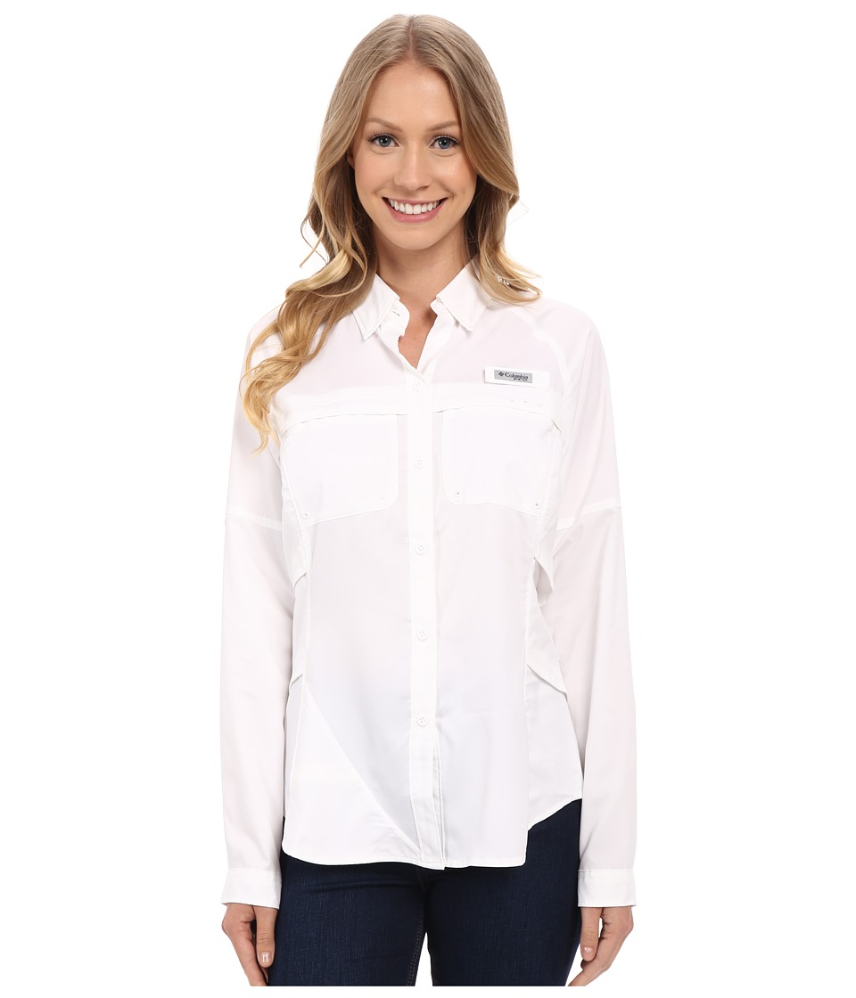 Columbia Airgal Long Sleeve Shirt White Womens Long Sleeve Button Up