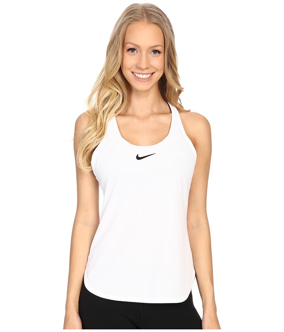 Nike Court Slam Breathe Tennis Tank Top White/White/Black Womens Sleeveless