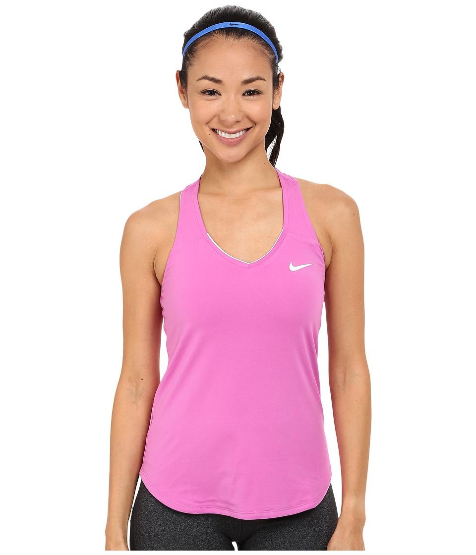 Nike Court Team Pure Tennis Tank Top Viola/White Womens Sleeveless