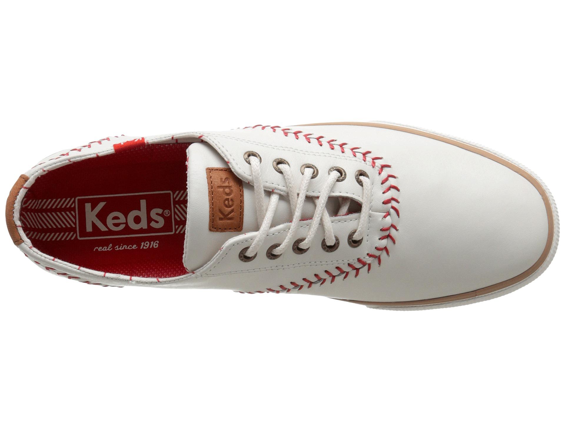 keds leather champion baseball shoes