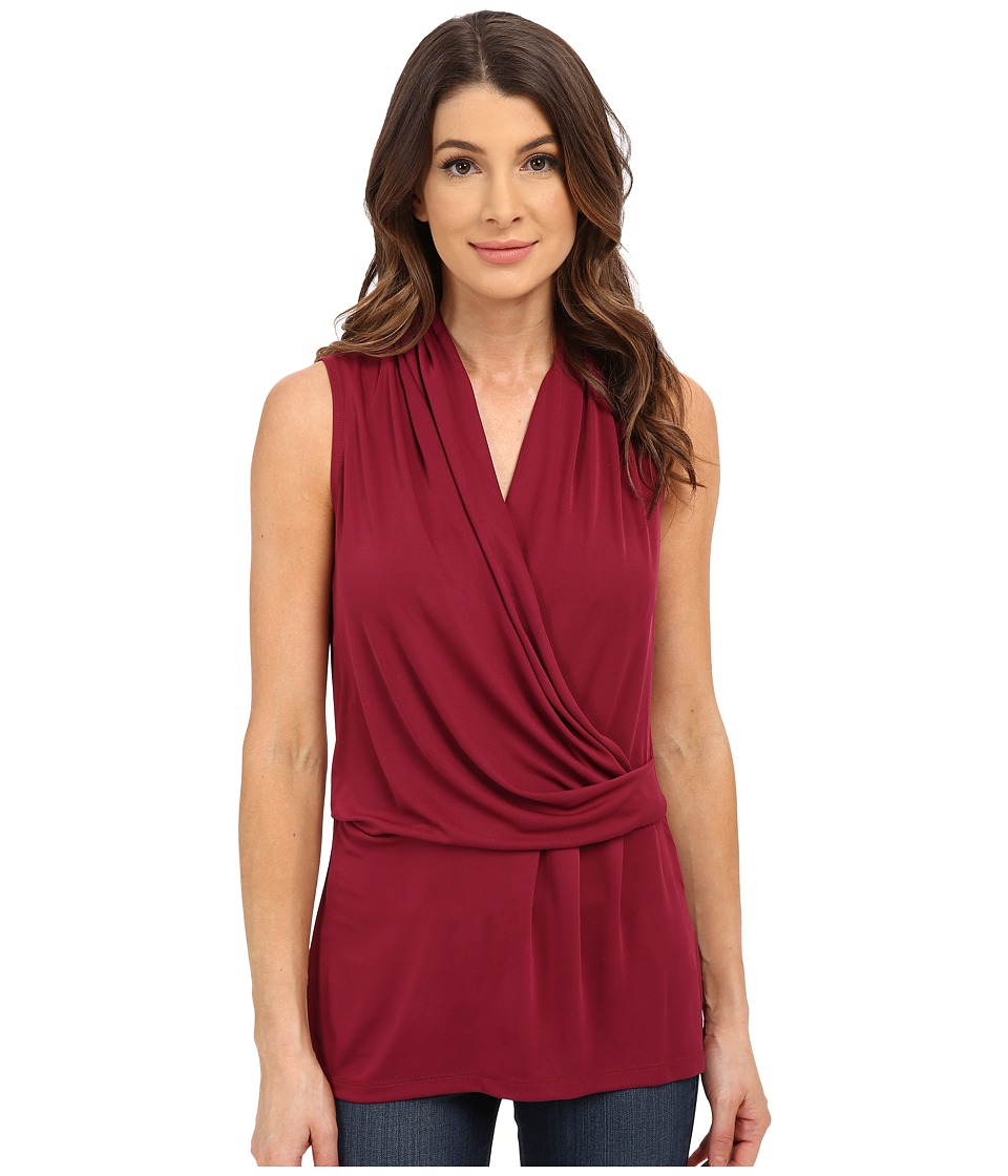 NYDJ - Fit Solution Sleeveless Drape Cowl Tee (Azalea) Women