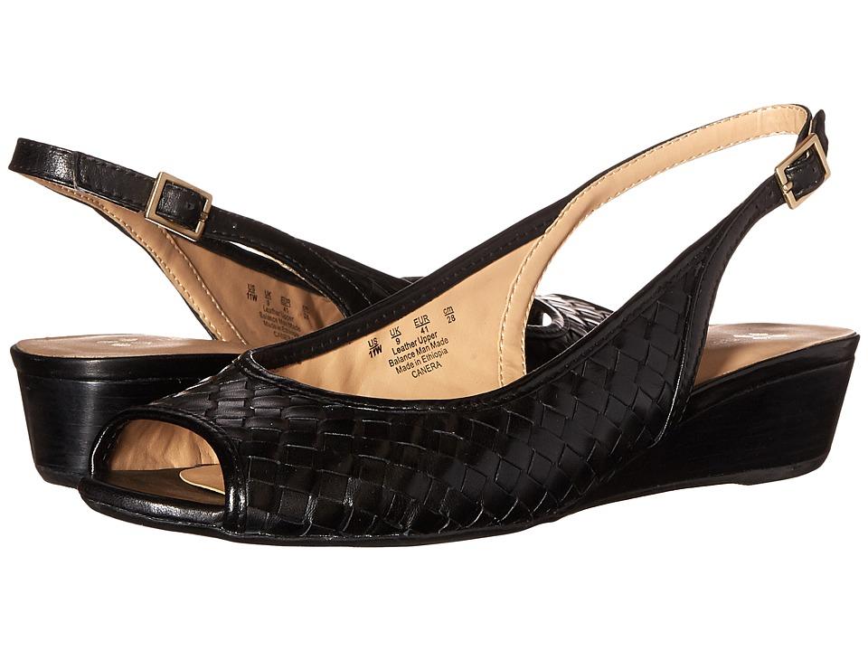 Naturalizer Canera Black Leather Womens Sling Back Shoes