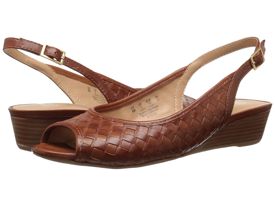 Naturalizer Canera Tan Leather Womens Sling Back Shoes