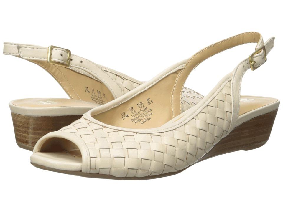 Naturalizer Canera Ivory Leather Womens Sling Back Shoes