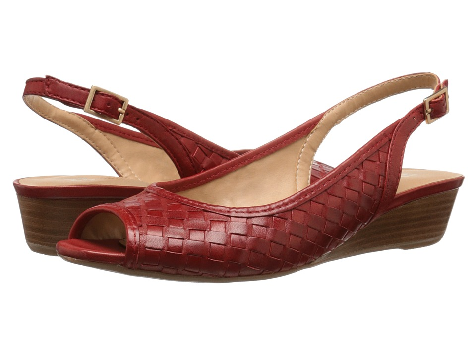 Naturalizer Canera Red Pepper Leather Womens Sling Back Shoes