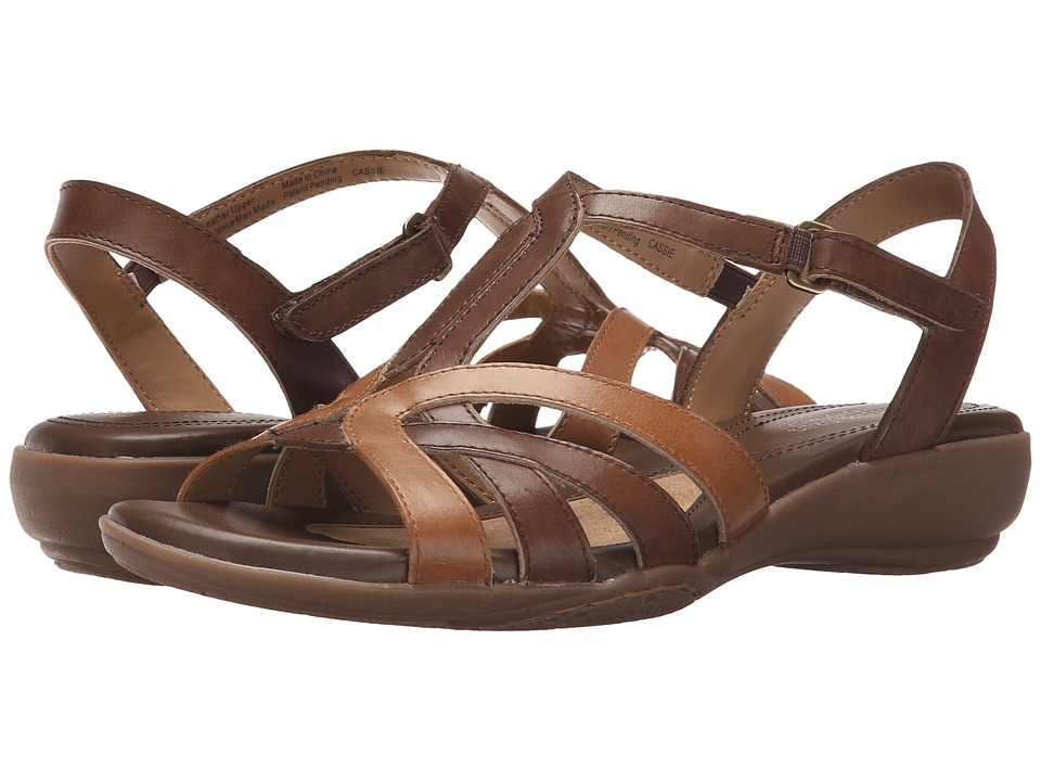Naturalizer Cassie Brown Multi Leather Womens Sandals