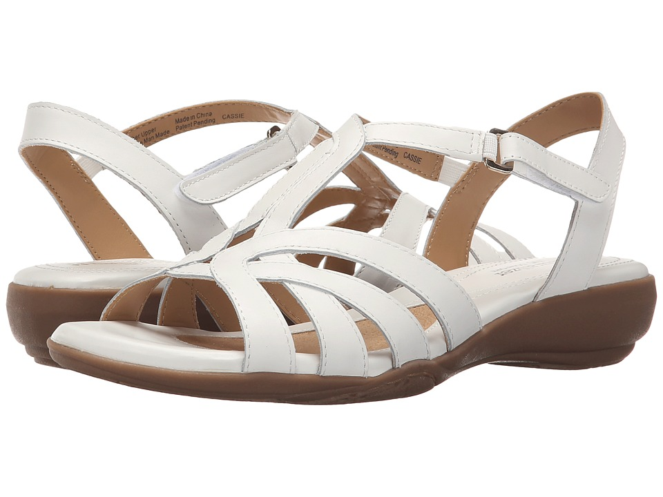 Naturalizer Cassie White Leather Womens Sandals