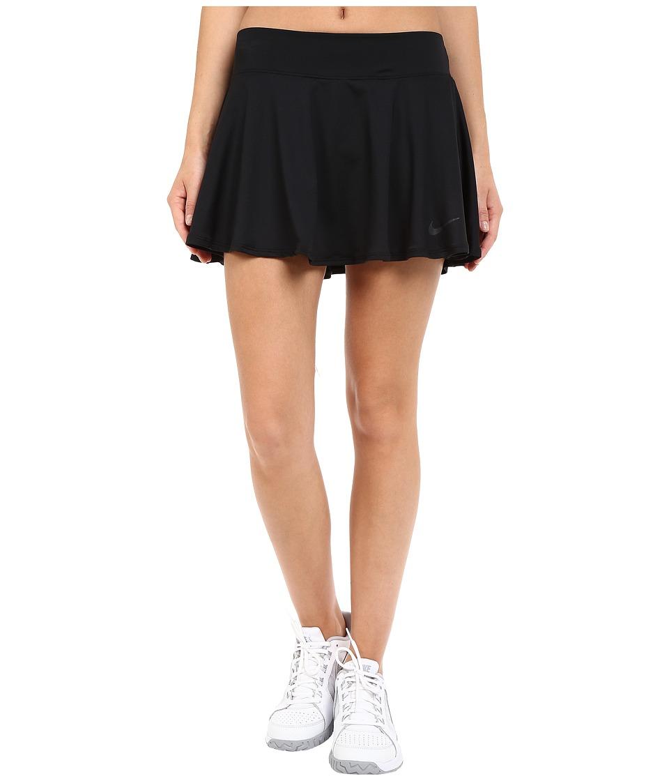 Nike Court Baseline Tennis Skirt (Black/Black) Women
