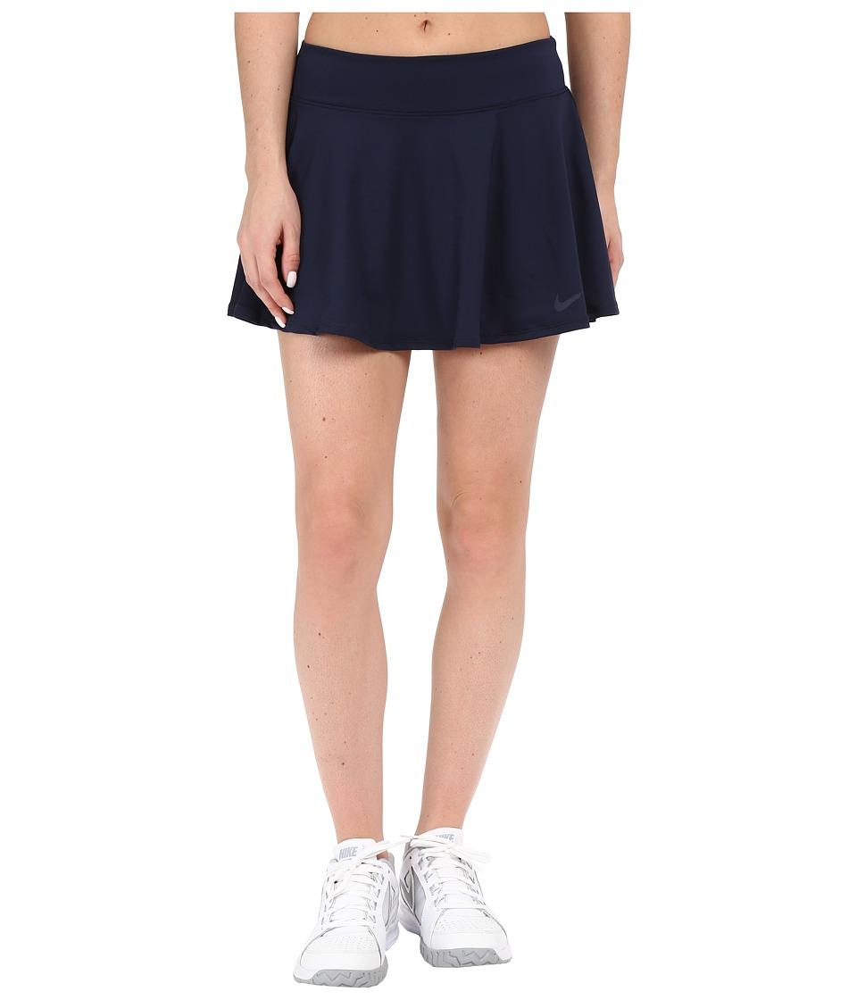 Nike Court Baseline Tennis Skirt Obsidian/Obsidian Womens Skort