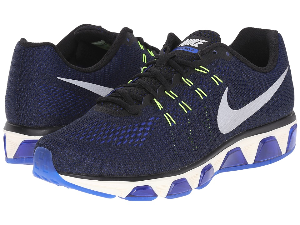 Nike - Air Max Tailwind 8 (Black/Racer Blue/Volt/Sail) Mens Running Shoes