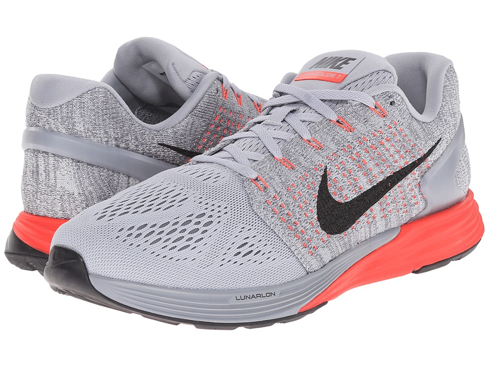 Nike - Lunarglide 7 (Wolf Grey/Bright Crimson/Cool Grey/Black)