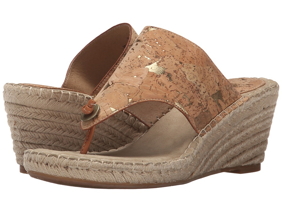 Johnston amp Murphy Ainsley Thong Natural Cork Womens Sandals
