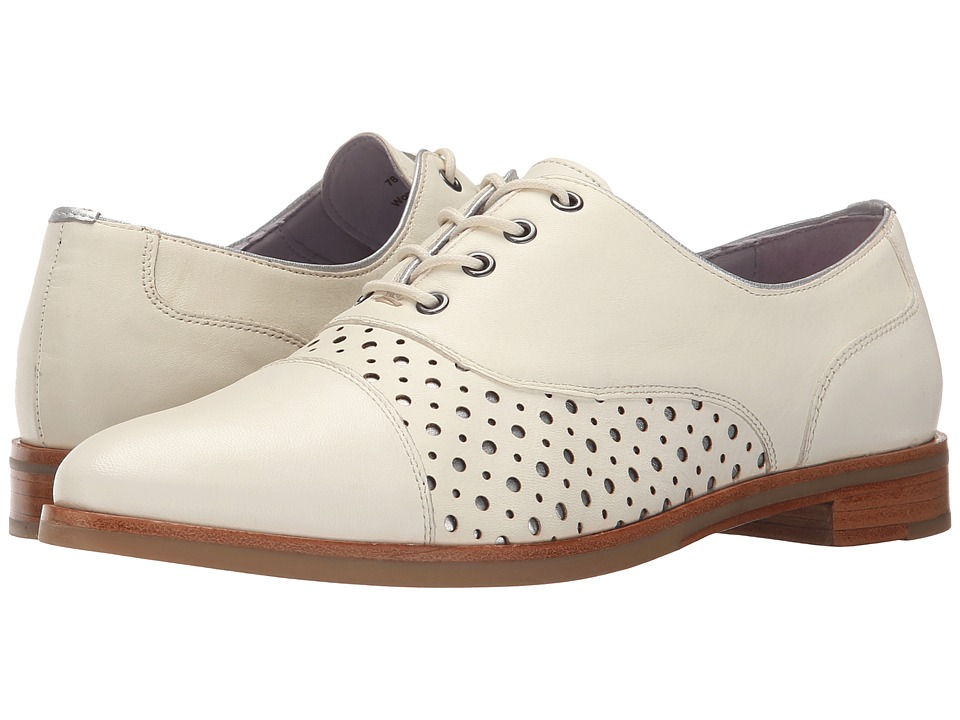 Johnston amp Murphy Charlene Ivory Soft Italian Calfskin w/ Silver Underlay Womens Shoes