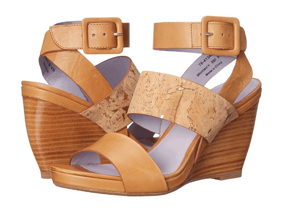 Johnston amp Murphy Nadia Caramel Calfskin/Natural Cork Womens Shoes