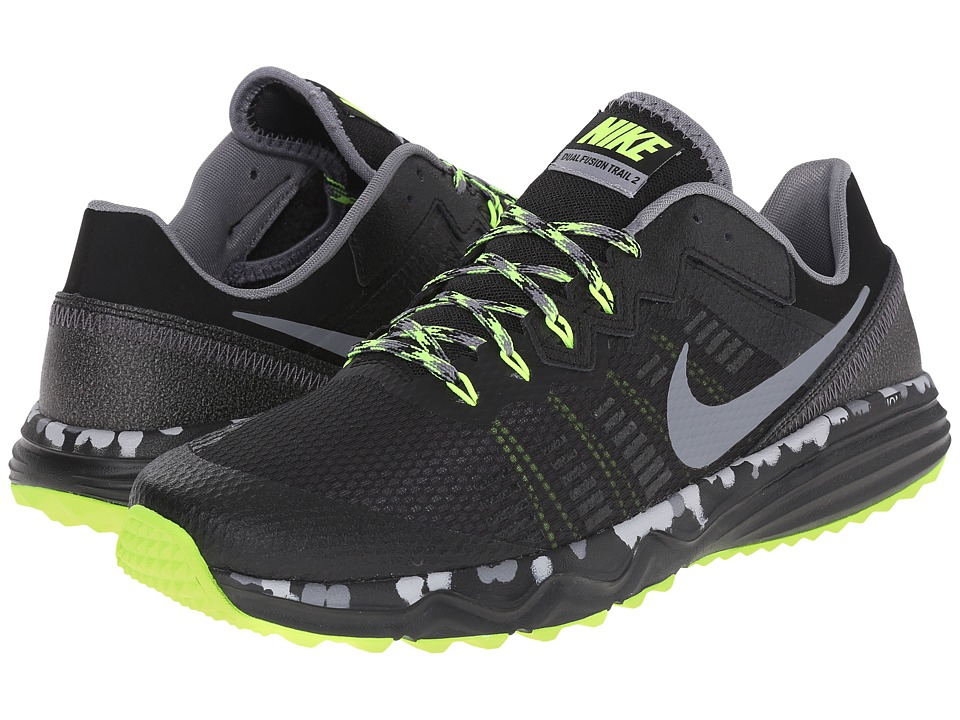 ... UPC 091206809320 product image for Nike - Dual Fusion Trail 2 (Black  Volt  ... 03f7fc8a1860c