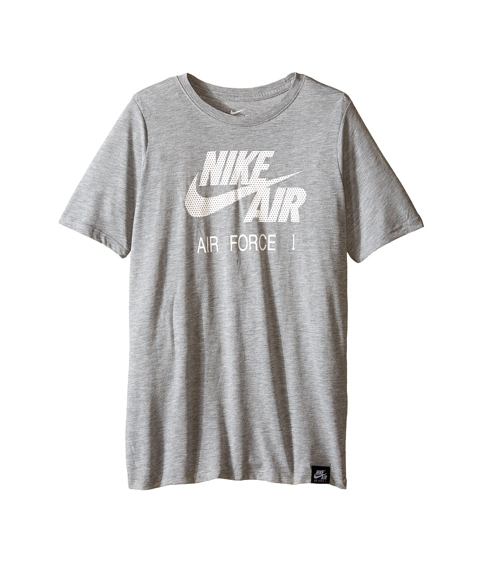 Nike Kids Air Force 1 Logo Tee Little Kids/Big Kids Dark Grey Heather Boys T Shirt