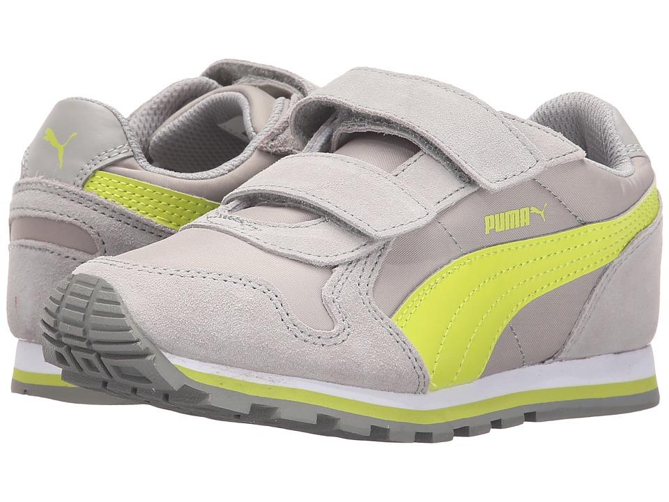 Puma Kids ST Runner NL V Toddler/Little Kid/Big Kid Limestone Gray/Lime Punch Boys Shoes