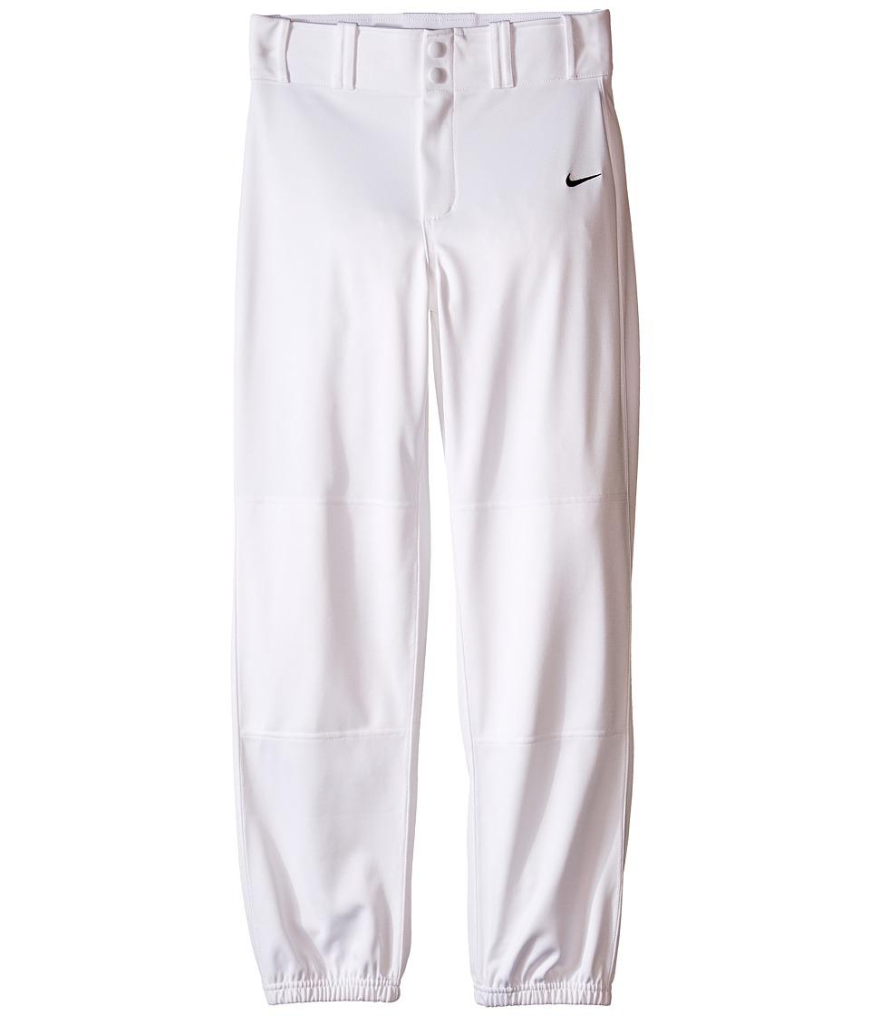 Nike Kids Baseball Core Dri FIT Pant Big Kids Team White/Team Black Boys Casual Pants